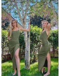 Obleka - koda 7858 - olivno zelena