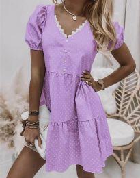 Obleka - koda 8292 -  svetlo vijolična