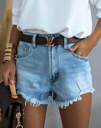 Kratke hlače - koda 4309 - 1 - svetlo modra