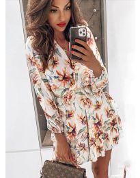 Obleka - koda 5514 - 2 - bela