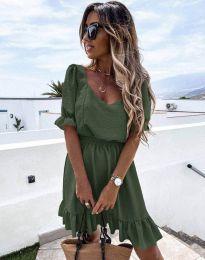 Obleka - koda 6460 - olivno zelena