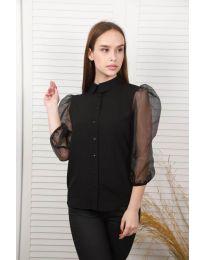 Дамска риза в черно - код 0633 - лице