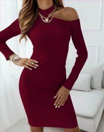 Obleka - koda 4859 - bordo
