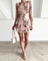 Obleka - koda 3610 - 2 - bež