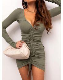 Obleka - koda 12069 - olivna
