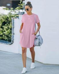 Obleka - koda 384444 - svetlo roza