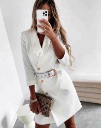 Obleka - koda 9257 - bela