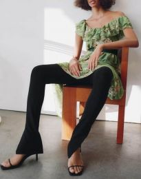 Елегантен панталон в черно - код 2172