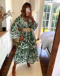 Obleka - koda 4071 - olivno zelena