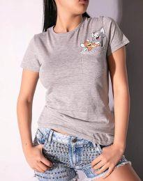 Majica - koda 2447 - 2 - siva