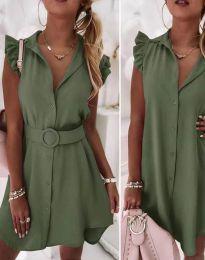 Obleka - koda 7411 - olivno zelena