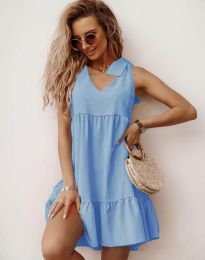 Obleka - koda 7206 - svetlo modra