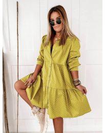 Obleka - koda 5557 - gorčica