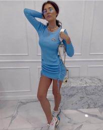 Obleka - koda 2286 - svetlo modra