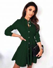 Obleka - koda 3852 - temno zelena