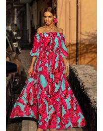 Obleka - koda 6599 - 2 - večbarvna