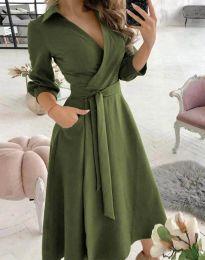 Obleka - koda 2861 - olivna