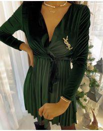 Obleka - koda 8619 - 2 - olivna
