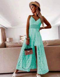 Obleka - koda 2704 - turkizna