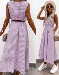 Obleka - koda 2687 - vijolična