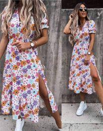 Obleka - koda 6213 - cvetni