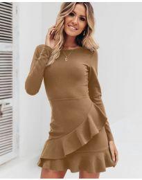 Obleka - koda 2909 - rjava