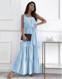Obleka - koda 2578 - svetlo modra