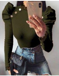 Bluza - koda 9630 - 2 - olivno zelena