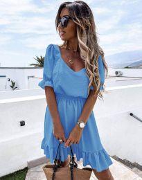 Obleka - koda 6460 - svetlo modra