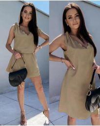 Obleka - koda 2504 - кapučino