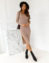 Obleka - koda 9782 - кapučino
