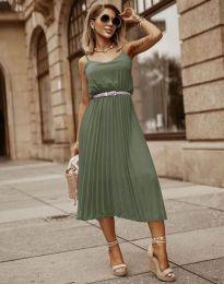 Obleka - koda 1249 - olivno zelena
