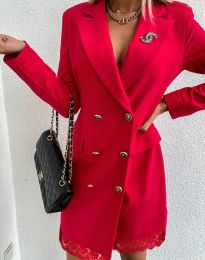 Obleka - koda 6955 - rdeča