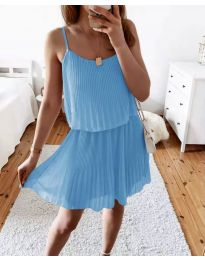Obleka - koda 8596 - svetlo modra