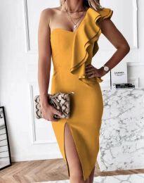 Obleka - koda 6584 - gorčica