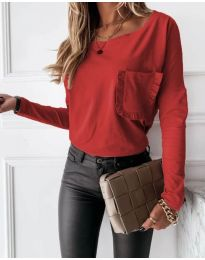 Bluza - koda 4450 - 1 - rdeča