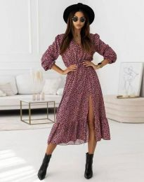 Obleka - koda 0836 - vijolična