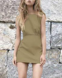 Obleka - koda 1233 - кapučino