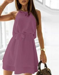 Obleka - koda 9968 - temno vijolična