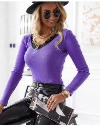 Bluza - koda 7706 - 2 - vijolična