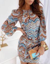 Obleka - koda 7214 - 1 - večbarvna