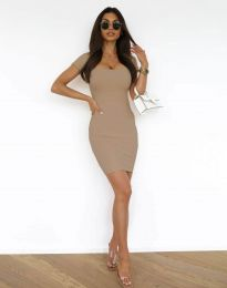 Obleka - koda 0988 - кapučino