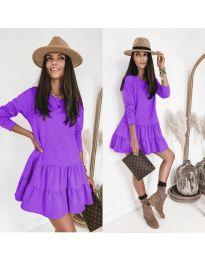 Obleka - koda 8486 - vijolična