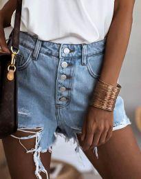 Kratke hlače - koda 4308 - 1 - svetlo modra