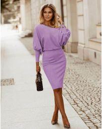 Obleka - koda 2242 - svetlo vijolična