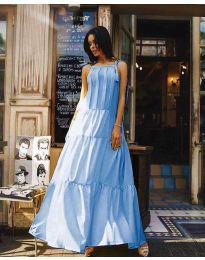 Obleka - koda 1105 - svetlo modra