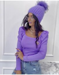 Bluza - koda 2180 - 3 - vijolična