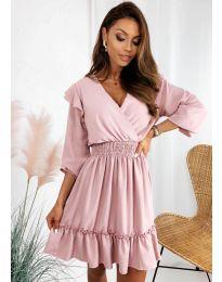 Obleka - koda 8554 - roza