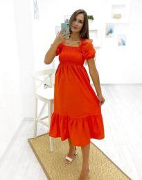 Obleka - koda 3283 - 3 - oranžna