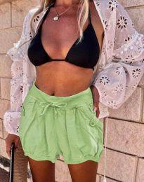 Kratke hlače - koda 0320 - 6 - svetlo zelena